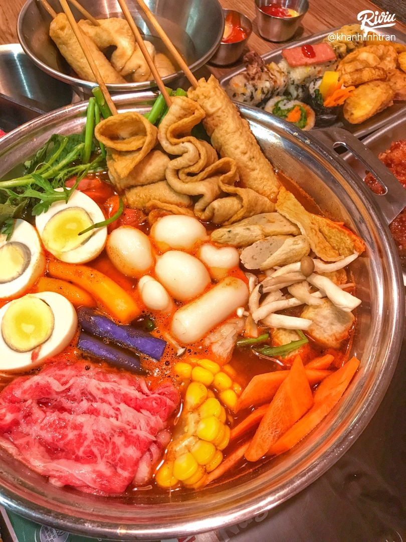 """nhao dzo an """"buffet lau tokbokki"""" no be bung chi 119k ha!!! - anh 5"""