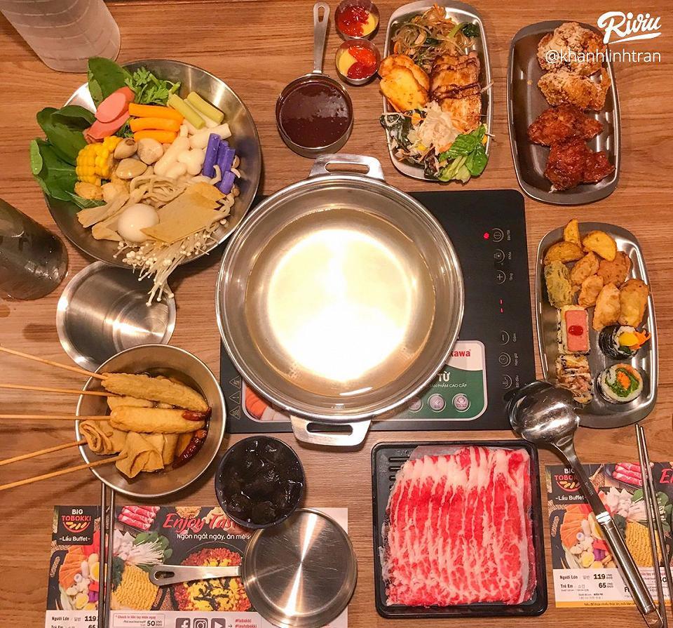 """nhao dzo an """"buffet lau tokbokki"""" no be bung chi 119k ha!!! - anh 6"""
