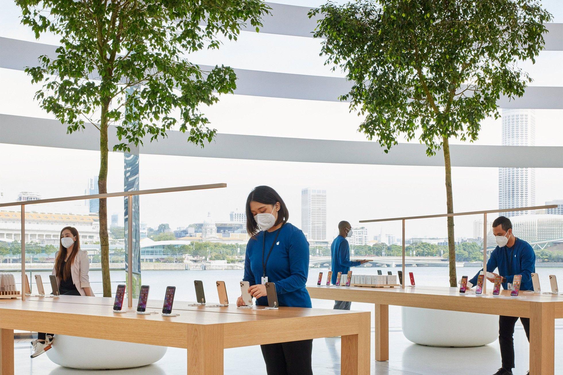 sau bao ngay cho doi, apple store ''noi tren mat nuoc'' chinh thuc khai truong khien fans dung ngoi khong yen - anh 4