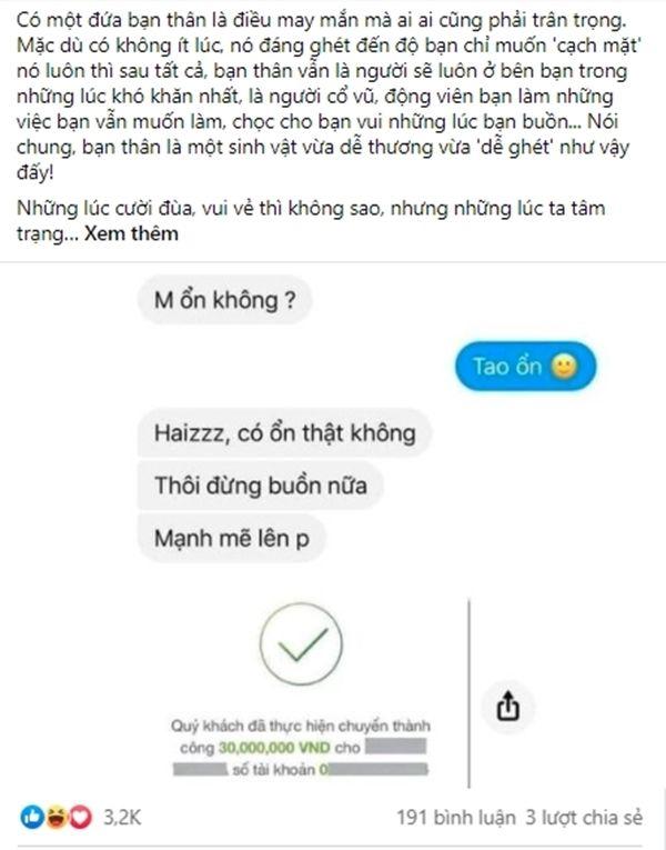 """vua hoi """"may on khong?"""" - co gai chuyen ngay cho ban than 30 trieu dong tieu cho do chan  - anh 3"""